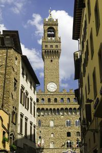 View Towards the Tower of the Palazzo Vecchio, Florence, Tuscany, Italy by John Woodworth