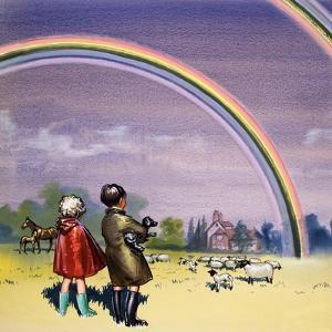 R for Rainbow, Illustration from 'Treasure', 1963 by John Worsley