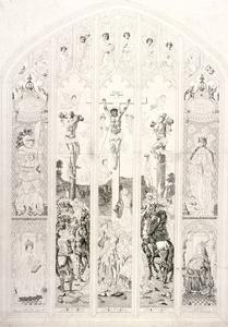 East Window in St Margaret, Westminster, Depicting the Crucifixion, London, 1787 by John Wright