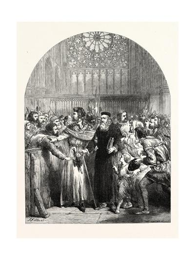 John Wycliffe Appearing in St. Paul's Cathedral to Answer the Charge of Heresy--Giclee Print