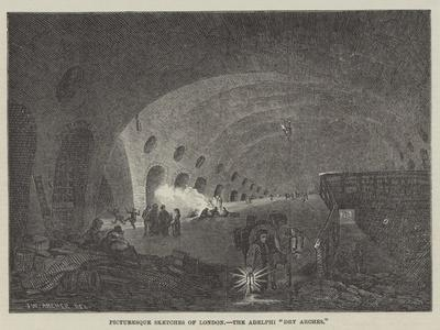 Picturesque Sketches of London, the Adelphi Dry Arches