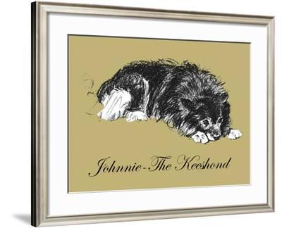 Johnnie-The Keeshond-Lucy Dawson-Framed Art Print