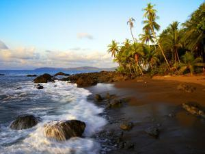 Beach on Pacific Ocean on West Coast of Costa Rica by Johnny Haglund