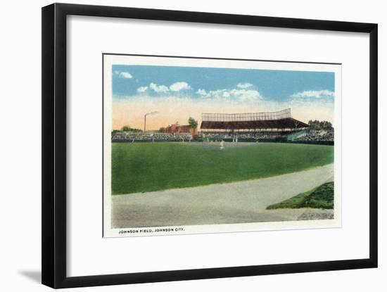 Johnson City, New York, View of Johnson Baseball Field-Lantern Press-Framed Art Print
