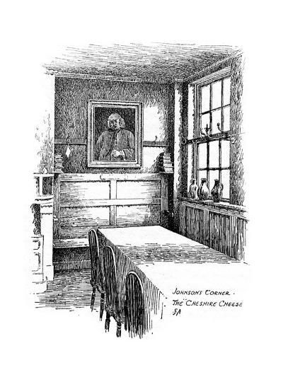 Johnson's Corner, the Cheshire Cheese Pub, City of London, 1912-Frederick Adcock-Giclee Print