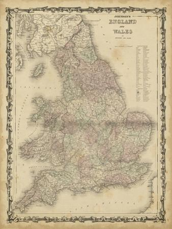 Johnson's Map of England & Wales