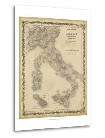 Johnson's Map of Italy