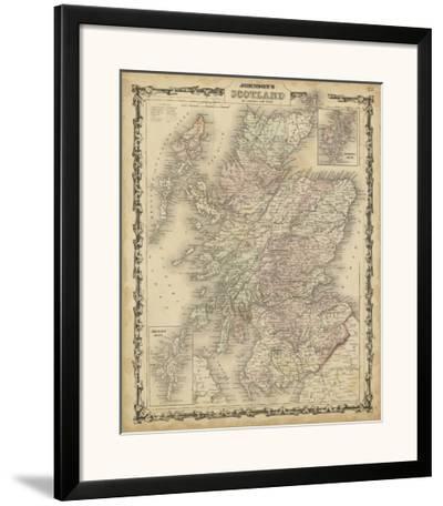 Johnson's Map of Scotland--Framed Art Print