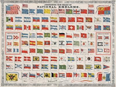 Johnson's New Chart of National Emblems-A^J^ Johnson-Giclee Print