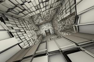 3D Futuristic Fragmented Tiled Mosaic Labyrinth Interior by johnson13