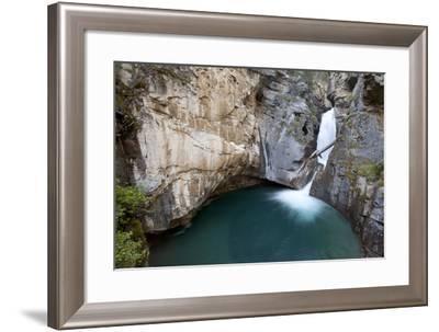 Johnston Canyon Waterfall In Banff-Lindsay Daniels-Framed Photographic Print