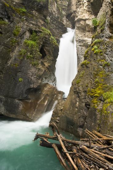 Johnston Falls and Creek, Johnston Canyon, Banff National Park, Alberta, Canada-Michel Hersen-Photographic Print