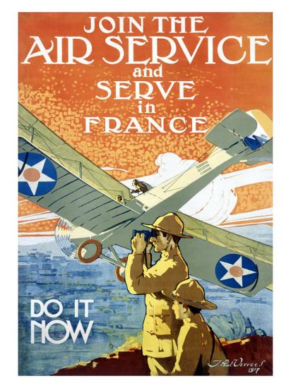 Join Air Service-Jozef Paul Verrees-Giclee Print