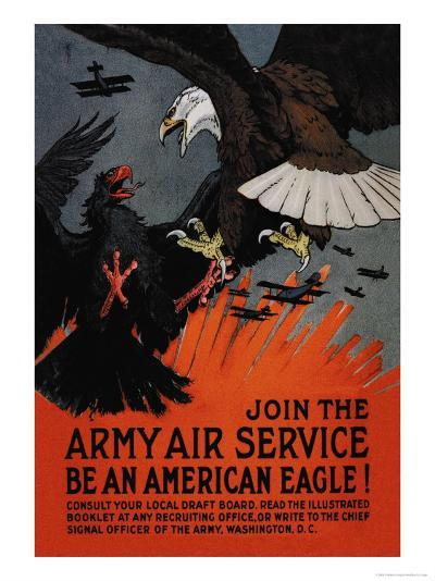 Join the Army Air Service: Be an American Eagle!-Charles Livingston Bull-Art Print