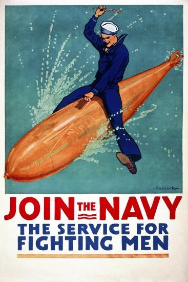 Join the Navy, the Service for Fighting Men--Giclee Print