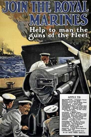 """""""Join the Royal Marines"""", 1915--Giclee Print"""