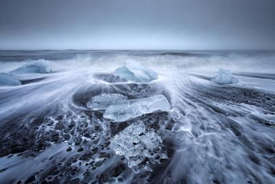 Jokulsa Beach on a Stormy Day-Lee Frost-Photographic Print