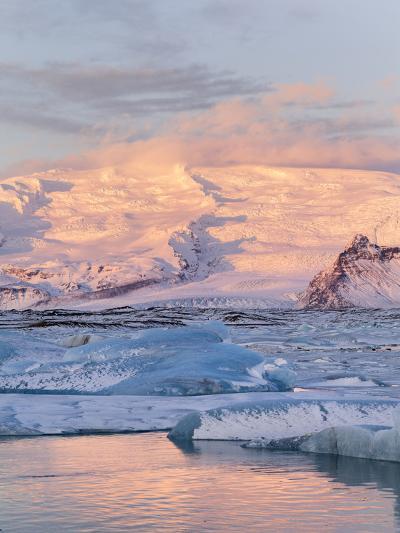 Jokulsarlon with Glacier Breidamerjokull, Vatnajokull NP. Iceland-Martin Zwick-Photographic Print