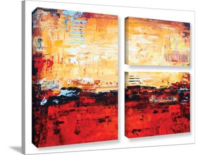 Jolina Anthony's Sunset, 3 Piece Gallery-Wrapped Canvas Flag Set-Jolina Anthony-Gallery Wrapped Canvas Set