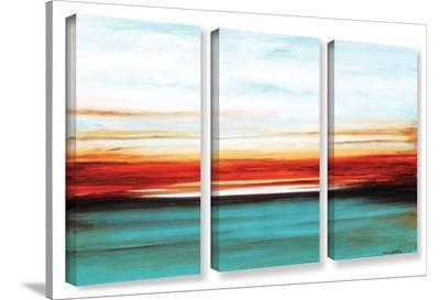 Jolina Anthony's Sunset, 3 Piece Gallery-Wrapped Canvas Set-Jolina Anthony-Gallery Wrapped Canvas Set