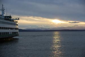 Seattle, Washington State. Catching the Bainbridge Island Ferry at sunset. by Jolly Sienda
