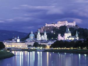 Alt Stadt and Hohensalzburg Fortress, Salzburg, Austria by Jon Arnold