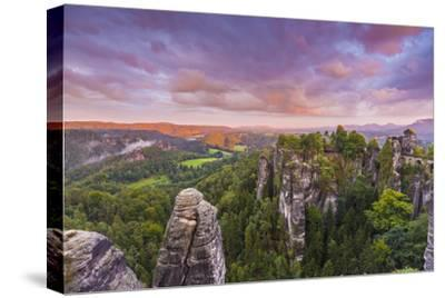 Bastei Bridge, Bastei, Saxon Switzerland National Park, Saxony, Germany