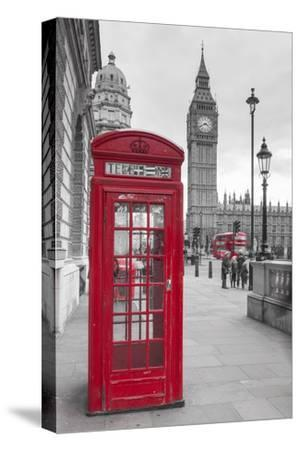 Big Ben, Houses of Parliament and a Red Phone Box, London, England