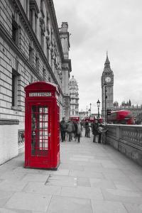 Big Ben, Houses of Parliament and a Red Phone Box, London, England by Jon Arnold