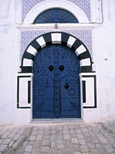 Blue Door, Sidi Bou Said, Tunisia by Jon Arnold