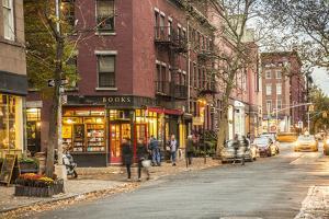 Book Shop in Greenwich Village, Manhattan, New York City, New York, USA by Jon Arnold