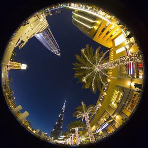 Burj Khalifa (World's Tallest Building) and the Address Downtown Hotel, Dubai, United Arab Emirates by Jon Arnold