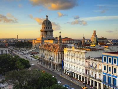 Capitolio and Parque Central, Havana, Cuba by Jon Arnold