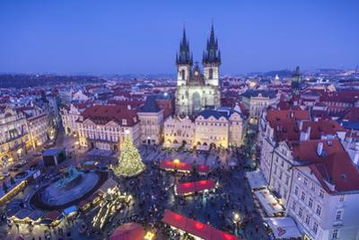 Christmas Market, Old Town Square, Prague, Czech Republic