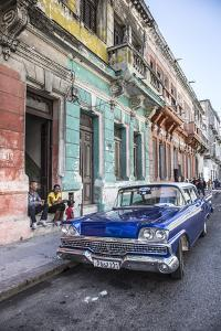 Classic 50s America Car in the Streets of Centro Habana, Havana, Cuba by Jon Arnold
