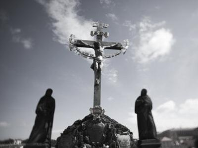 Crucifixion Statue, Charles Bridge, Prague, Czech Republic
