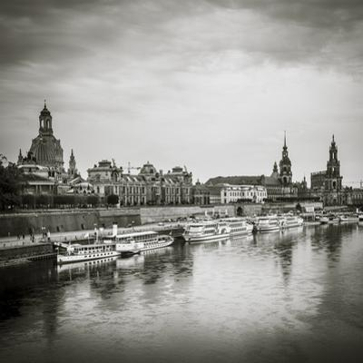 Elbe River, and City Skyline, Dresden, Saxony, Germany