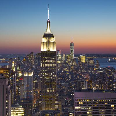 Empire State Building (One World Trade Center Behind), Manhattan, New York City, New York, USA