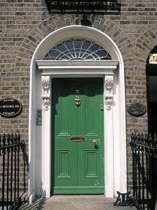 Green Door, Merrion Square, Dublin, Ireland by Jon Arnold