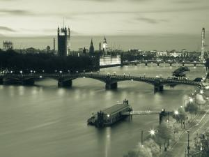 Houses of Parliament and River Thames, London, England, UK by Jon Arnold