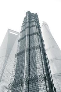 Jin Mao Tower, Shanghai Tower and Shanghai World Finance Center, Lujiazui, Pudong, Shanghai, China by Jon Arnold