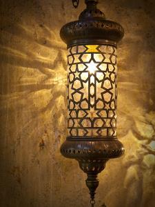 Lamps and Lanterns in Shop in the Grand Bazaar, Istanbul, Turkey by Jon Arnold