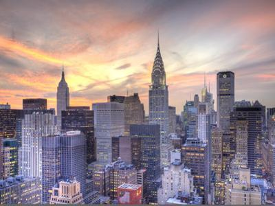 Midtown Skyline with Chrysler Building and Empire State Building, Manhattan, New York City, USA