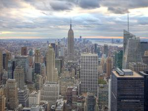 Midtown Skyline with Empire State Building from the Rockefeller Center, Manhattan, New York City, U by Jon Arnold