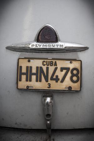 Number Plate of Classic 50s Car, Havana, Cuba