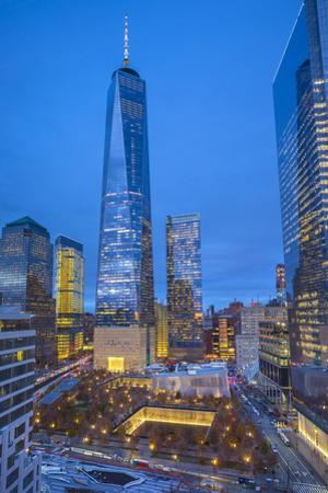 One World Trade Center and 911 Memorial, Lower Manhattan, New York City, New York, USA