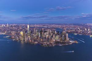 One World Trade Center and Lower Manhattan, New York City, New York, USA by Jon Arnold