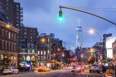 One World Trade Center from 7th Avenue, Greenwich Village, Manhattan, New York City, New York, USA by Jon Arnold
