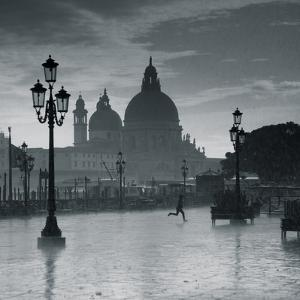 Piazza San Marco Looking across to Santa Maria Della Salute, Venice, Italy by Jon Arnold