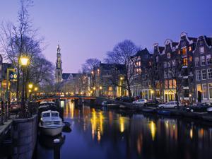 Prinsengracht, Amsterdam, Holland by Jon Arnold